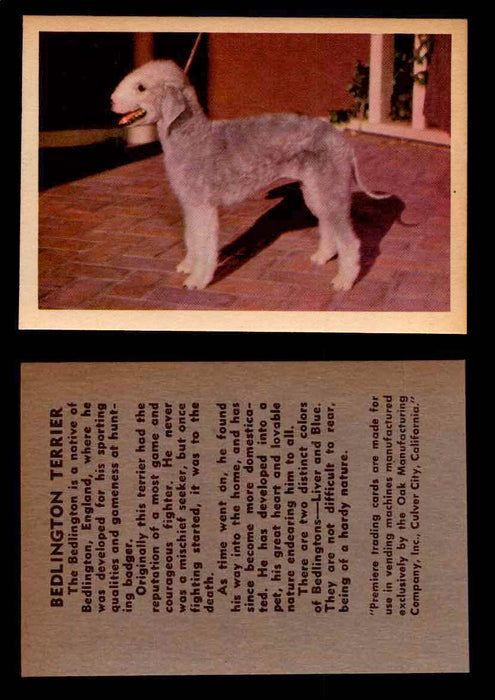 1957 Dogs Premiere Oak Man. R-724-4 Vintage Trading Cards You Pick Singles #1-42 #4 Bedlington Terrier  - TvMovieCards.com