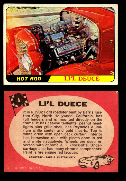 Hot Rods Topps 1968 George Barris Vintage Trading Cards You Pick Singles #4 Li'l Duece  - TvMovieCards.com