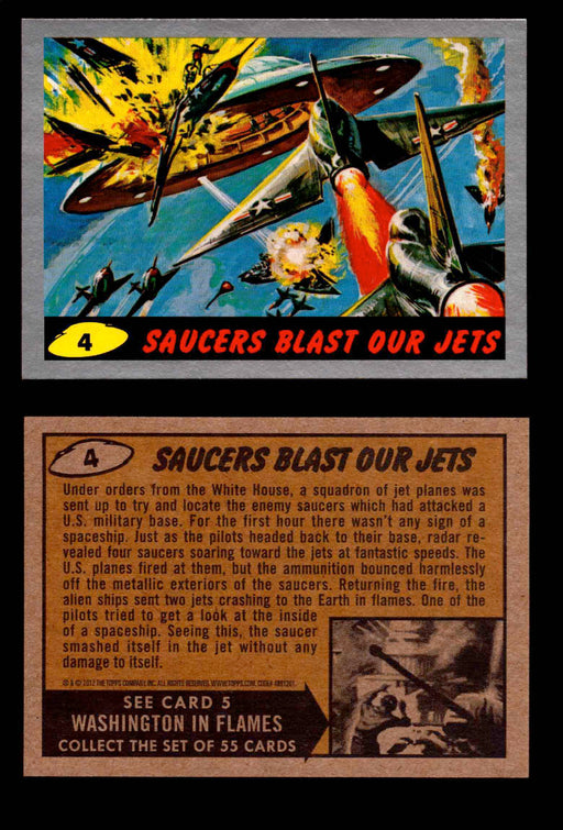 2012 Mars Attacks Silver Parallel You Pick Single Trading Card #1-55 Topps   - TvMovieCards.com