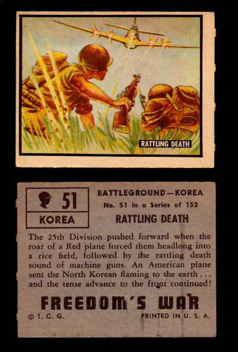1950 Freedom's War Korea Topps Vintage Trading Cards You Pick Singles #1-100 #51  - TvMovieCards.com