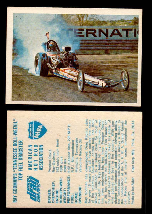 "AHRA Official Drag Champs 1971 Fleer Vintage Trading Cards You Pick Singles 53   Ray Godman's ""Tennessee Boll-Weevil""             Top Fuel Dragster  - TvMovieCards.com"
