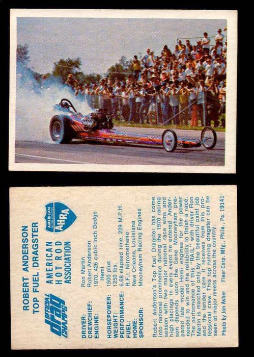 AHRA Official Drag Champs 1971 Fleer Vintage Trading Cards You Pick Singles 56   Robert Anderson                                  Top Fuel Dragster  - TvMovieCards.com