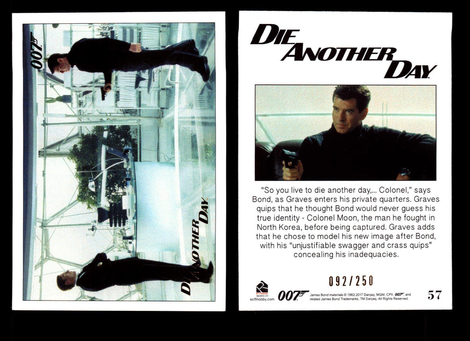 Die Another Day Gold Stamped Base Card #34 James Bond Archives 2017 Final Ed