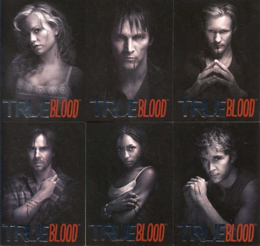 True Blood Premiere Edition Black & White Chase Card Set Front
