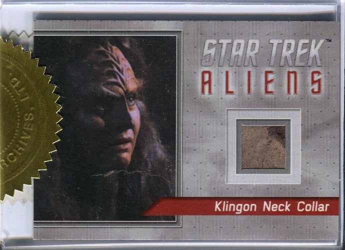 Star Trek Aliens Klingon Miral Neck Collar Relic Card   - TvMovieCards.com