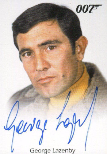 James Bond Archives 2015 Edition George Lazenby Autograph Card   - TvMovieCards.com