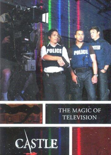 Castle Seasons 3 & 4 Foil Parallel Chase Card Behind The Scenes B7   - TvMovieCards.com