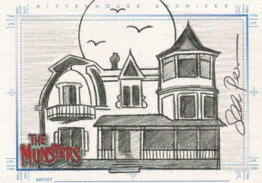 Munsters (2005) Artist Sean Pence Autograph Sketch Card The Munster Mansion   - TvMovieCards.com