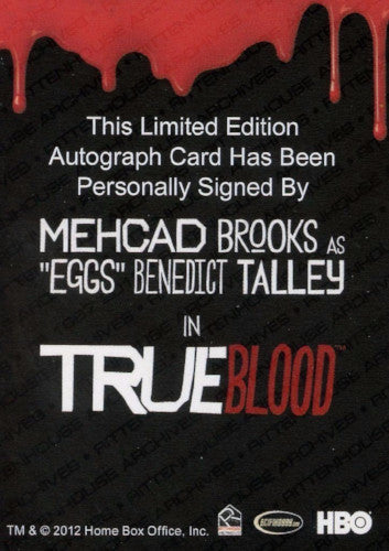 True Blood Season 7 Mehcad Brooks Autograph Card   - TvMovieCards.com