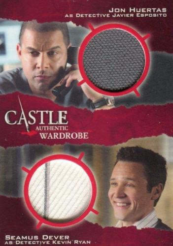 Castle Seasons 3 & 4 Esposito Ryan Dual Wardrobe Costume Card DM2   - TvMovieCards.com