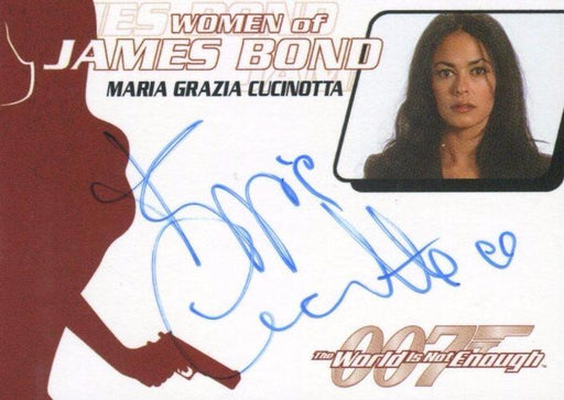 James Bond The Quotable James Bond Maria Grazia Cucinotta Autograph Card WA22   - TvMovieCards.com