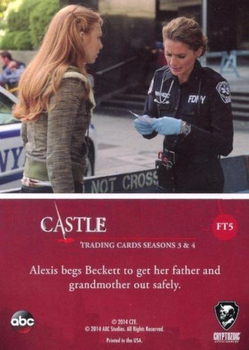 Castle Seasons 3 & 4 Foil Parallel Chase Card Family Ties FT5   - TvMovieCards.com