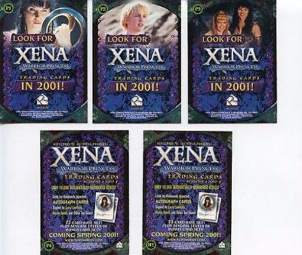 Xena Seasons 4 and 5 Promo Card Set 5 Cards   - TvMovieCards.com