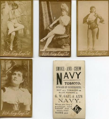 Smoke and Chew G.W. Gail & Ax's Navy Tobacco Vintage Card Lot 10 Cards 100 Yrs.   - TvMovieCards.com