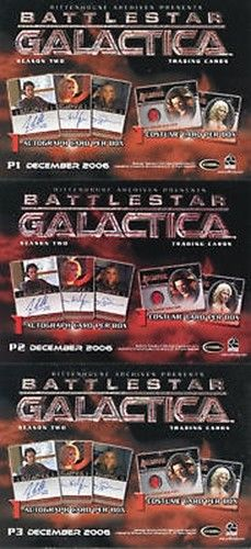 Battlestar Galactica Season Two Promo Card Set 3 Cards   - TvMovieCards.com