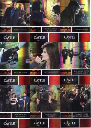 Castle Seasons 3 & 4 Behind The Scenes Foil Parallel Chase Card Set   - TvMovieCards.com