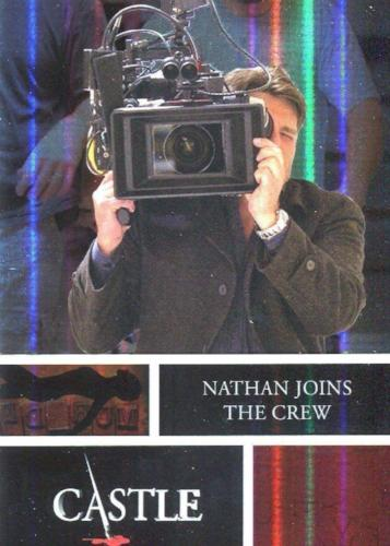Castle Seasons 3 & 4 Foil Parallel Chase Card Behind The Scenes B8   - TvMovieCards.com