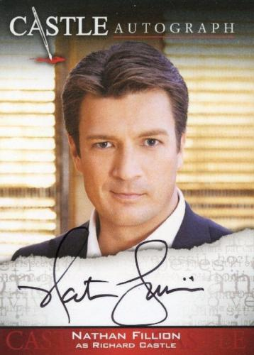 Castle Seasons 3 & 4 Nathan Fillion Autograph Card A01   - TvMovieCards.com