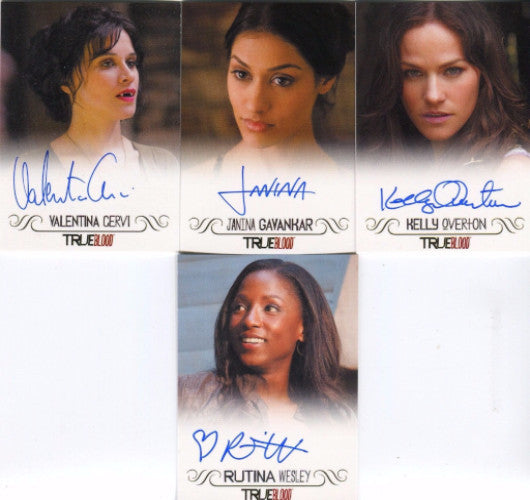 True Blood Archives Autograph Card Lot 4 Cards   - TvMovieCards.com