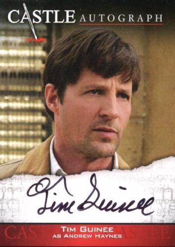 Castle Seasons 3 & 4 Tim Guinee Autograph Card A09   - TvMovieCards.com