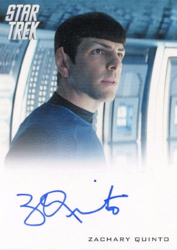 Star Trek Movie Into the Darkness Zachary Quinto Autograph Card Front