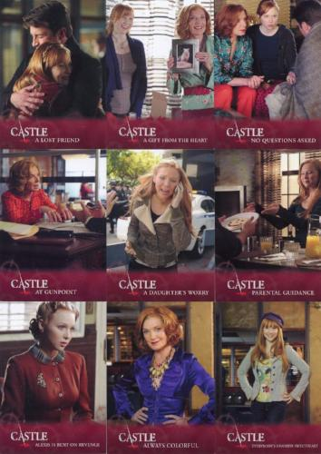 Castle Seasons 3 & 4 Family Ties Chase Card Set   - TvMovieCards.com