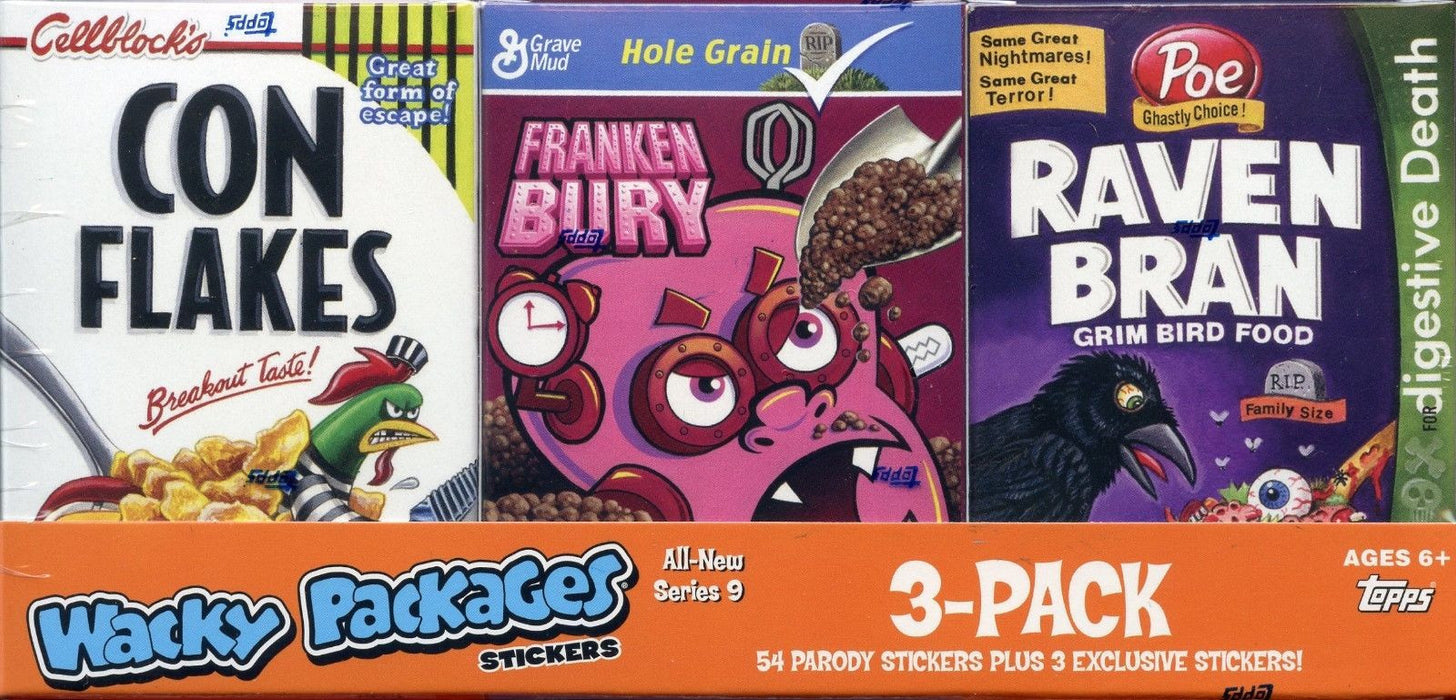 Wacky Packages Stickers Series Nine Empty Cereal Card Box Collection   - TvMovieCards.com
