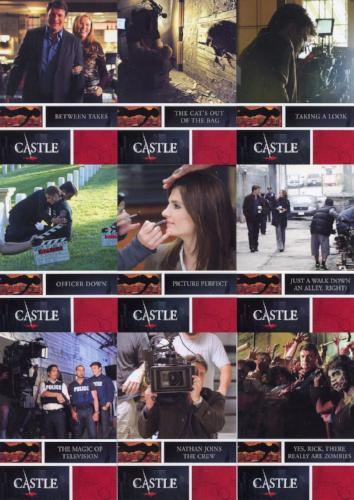 Castle Seasons 3 & 4 Behind The Scenes Chase Card Set   - TvMovieCards.com