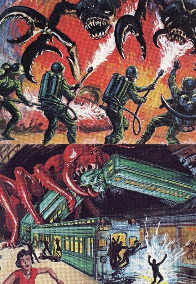 Mars Attacks Card Set 4 Cards Front1