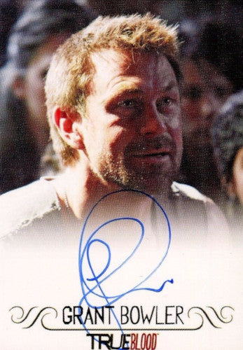 True Blood Archives Grant Bowler Autograph Card Front