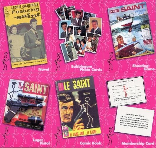 Saint The Very Best of The Saint Saintly Merchandise Chase Card Set 6 Cards Front