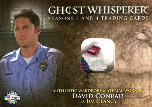 Ghost Whisperer Seasons 3 & 4 David Conrad Jim Clancy Variant Costume Card C12   - TvMovieCards.com
