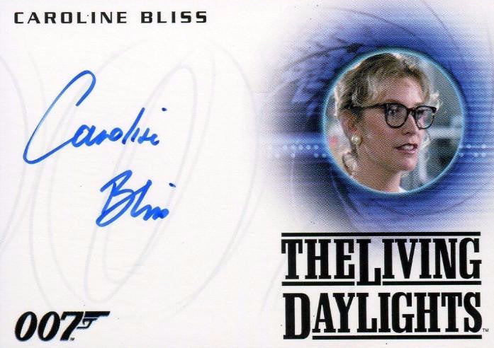 James Bond Archives 2015 Edition Caroline Bliss Autograph Card A263   - TvMovieCards.com