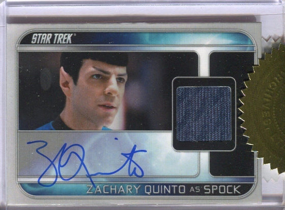 Star Trek Movie Into the Darkness Preview Card Set with Zachary Quinto Autograph Front