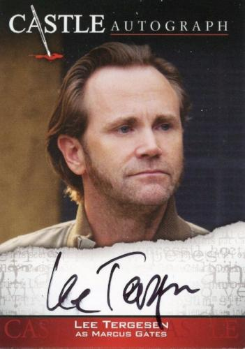 Castle Seasons 3 & 4 Lee Tergesen Autograph Card A08   - TvMovieCards.com