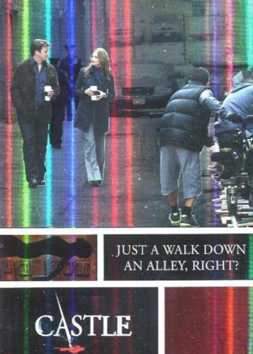 Castle Seasons 3 & 4 Foil Parallel Chase Card Behind The Scenes B6   - TvMovieCards.com