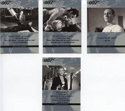 James Bond The Quotable James Bond Promo Card Set 4 Cards   - TvMovieCards.com