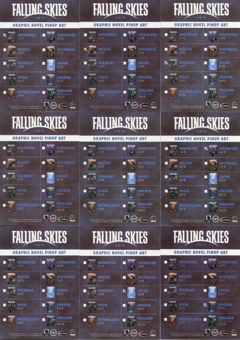 Falling Skies Season 2 Premium Pack International Pinup Chase Card Set 9 Cards   - TvMovieCards.com