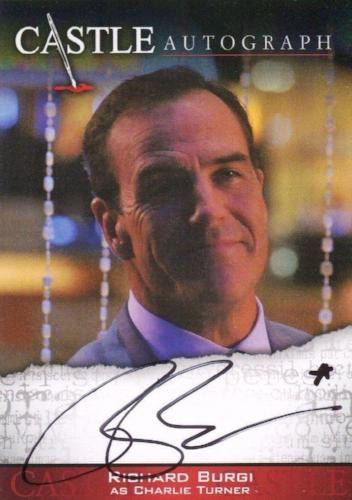Castle Seasons 3 & 4 Richard Burgi Autograph Card A11   - TvMovieCards.com