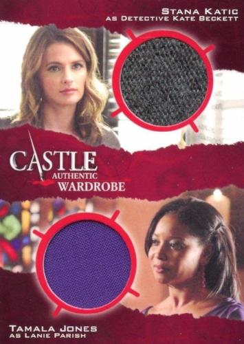 Castle Seasons 3 & 4 Beckett Parish Dual Wardrobe Costume Card DM4   - TvMovieCards.com