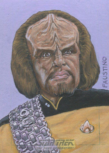 Star Trek TNG Portfolio Prints Sketch Card by Norman Faustino Front