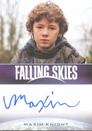 Falling Skies Season 2 Premium Pack Maxim Knight Autograph Card