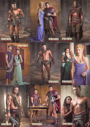Spartacus Premium Packs Rebels vs Romans Puzzle Chase Card Set 9 Cards   - TvMovieCards.com