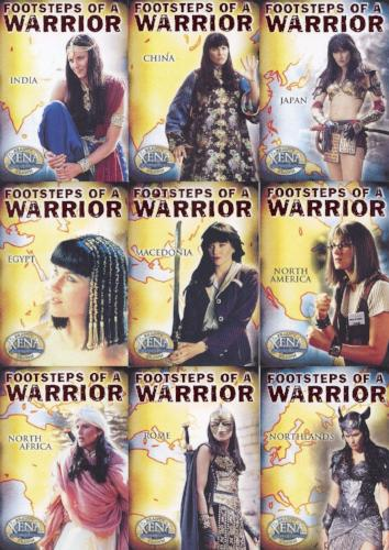 Xena Beauty and Brawn Footsteps of a Warrior Chase Card Set   - TvMovieCards.com