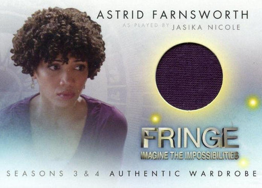Fringe Seasons 3 & 4 Jasika Nicole Astrid Farnsworth Wardrobe Costume Card M15   - TvMovieCards.com