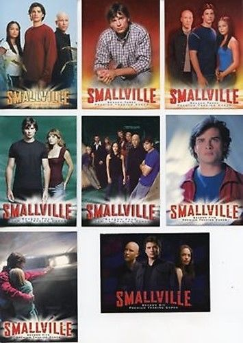 Smallville Mixed Seasons Promo Card Lot 8 Cards Inkworks   - TvMovieCards.com
