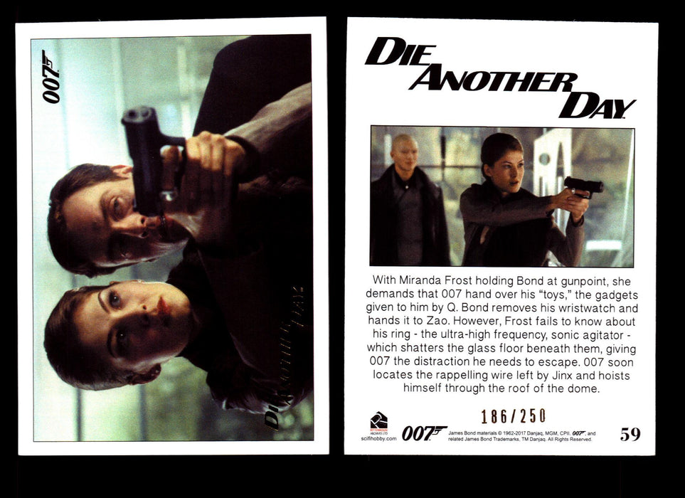 Die Another Day Gold Stamped Base Card #59 James Bond Archives 2017 Final Ed