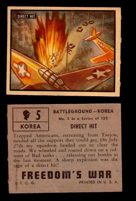1950 Freedom's War Korea Topps Vintage Trading Cards You Pick Singles #1-100 #5  - TvMovieCards.com