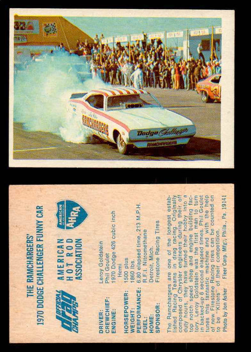 AHRA Official Drag Champs 1971 Fleer Vintage Trading Cards You Pick Singles 5   The Ramchargers'                                 1970 Dodge Challenger Funny Car  - TvMovieCards.com