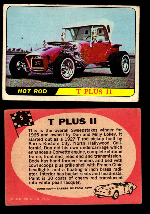Hot Rods Topps 1968 George Barris Vintage Trading Cards You Pick Singles #5 T Plus II  - TvMovieCards.com
